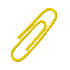 Clip yelow vector illustration isolated