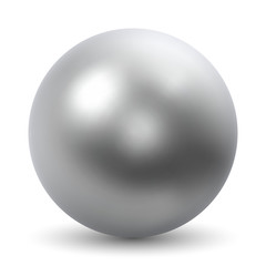 Chrome Ball Realistic Vector Illustration
