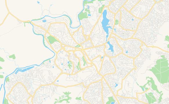 Printable street map of Maseru, Lesotho