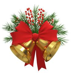Gold Christmas Bells Decoration