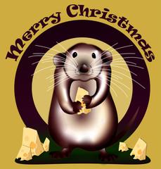 Merry Christmas Rat