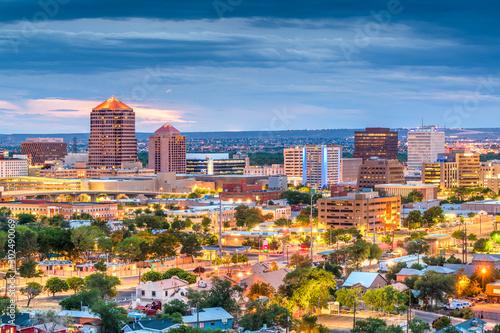 Fototapete Albuquerque, New Mexico, USA downtown cityscape