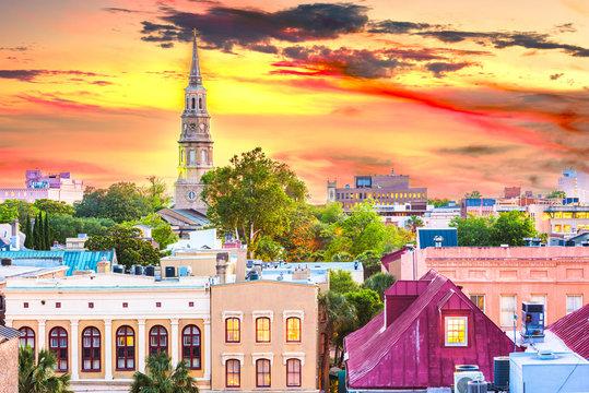 Charleston, South Carolina, USA town skyline