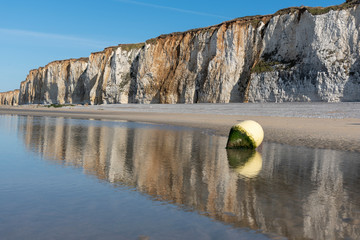 Küste in Veules-Les-Roses in der Normandie, Frankreich