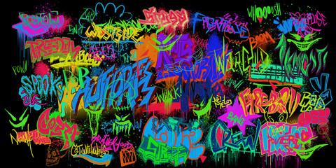 In de dag Graffiti Graffiti Walls