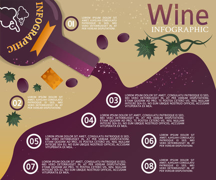 Old Wine bottle infographic template
