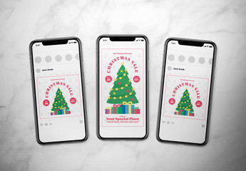 Christmas Event Social Media Post Layout Set