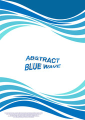 Wall Murals Abstract wave cover with abstract wave pattern for printed publications.