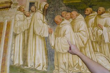 affreschi sulla vita di san benedetto a monte oliveto maggiore