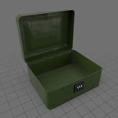 Open box with combination lock