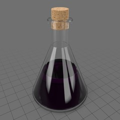 Conical potion flask