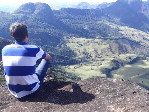 alpinismo excursão de montanha topo do pico