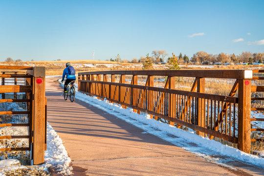winter commuting by bike in Colorado