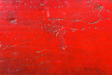 Wall Mural - Grunge red color concrete flooring surface texture as background