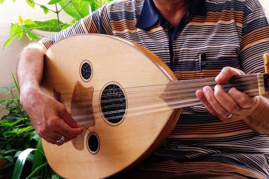 Saz and hand,Turkish musical instrument