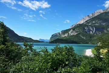 Italy-view of the lake Molveno