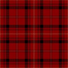 Red and black tartan plaid. Stylish textile pattern.