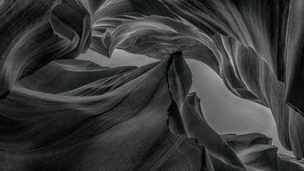 Abstract background Antelope Canyon Collection, black and white concept Fotomurales