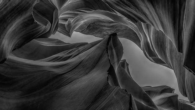 Abstract background Antelope Canyon Collection, black and white concept