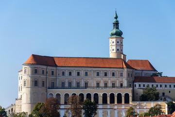 Mikulov Castle in South Moravia, Czech Republic, sunny summer day
