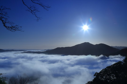 栃木県茂木町 鎌倉山の雲海 ( Sea of clouds at Mt.Kamakura, Motegi, Tochigi, Japan )