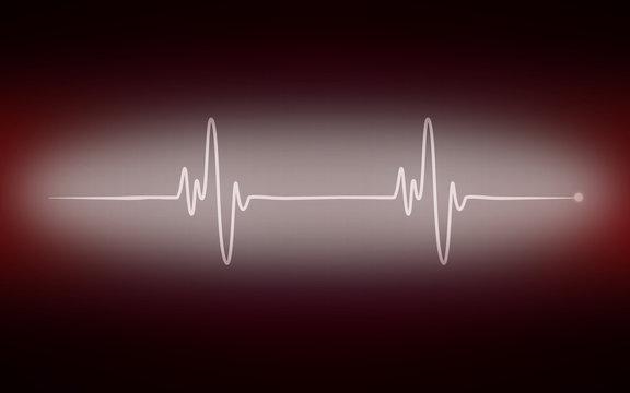 Heart cardiogram pulse chart on electrocardiogram monitor