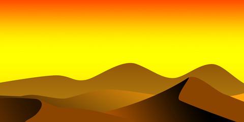 Fototapeten Gelb Colored minimalistic desert landscape