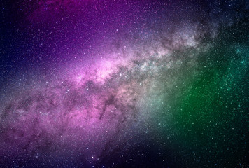Abstract galaxy background with stars and planets with colorful galaxy motifs of universe night...