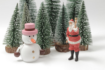 Creative frame made of Christmas, the figure of xmas theme