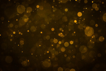 Abstract blur gold sparkle bokeh
