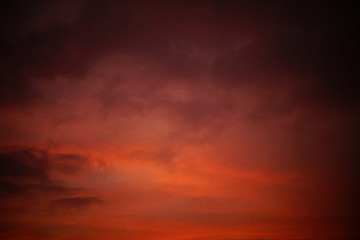 Abstract sunset sky - dark and vintage feel