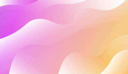 Wave Modern Background. For Business Presentation Wallpaper, Flyer, Cover. Vector Illustration with Color Gradient.