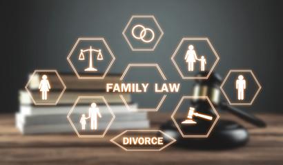 Judge gavel on the desk. Family Law