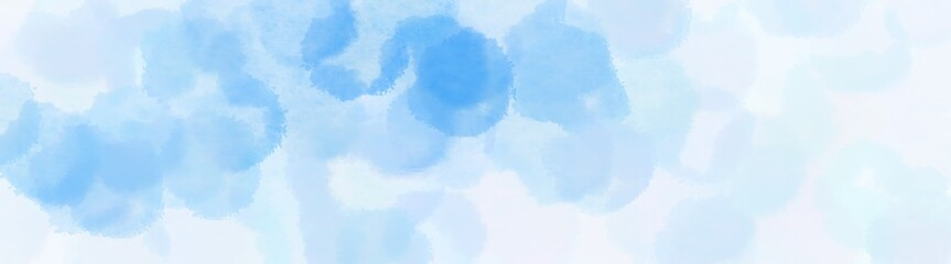 abstract shiny circles wide banner. lavender, light sky blue and powder blue background with space for text or image