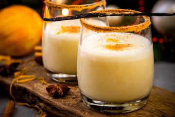 Eggnog Classic Traditional Christmas Cocktail