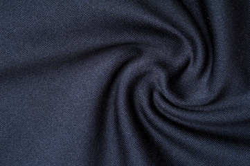 Fragment of crumpled gray polyester wear Fototapete