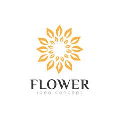Flower Concept Logo Design Template