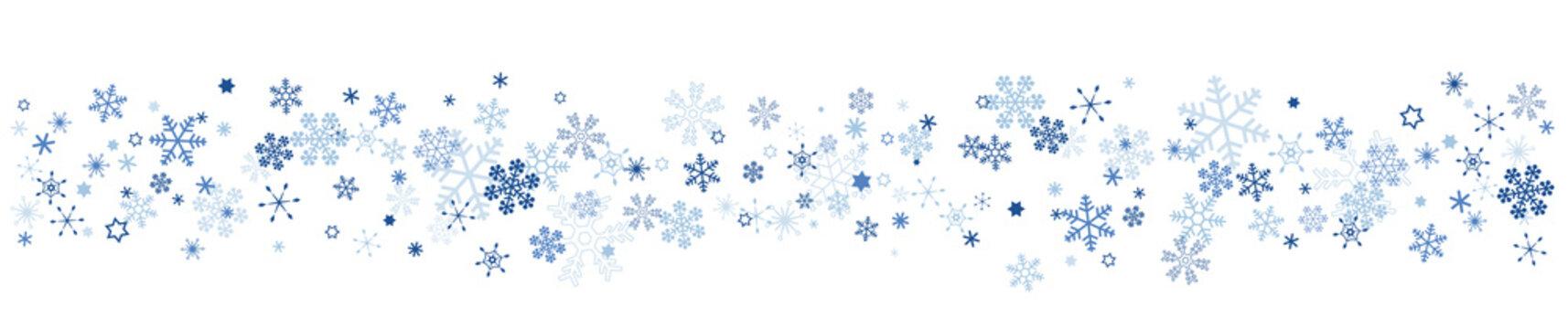 雪の結晶 スノーフレークのボーダー