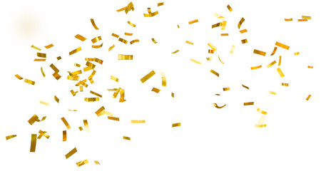 Golden shiny confetti