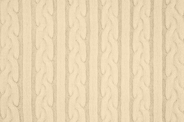 Knitwear Fabric Texture with Pigtails and stripes. Repeating Machine Knitting Texture of Sweater....