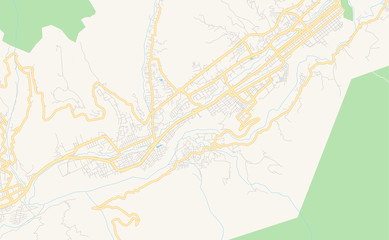 Printable street map of Merida, Venezuela