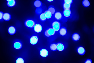 Christmas background. Design element with bokeh from garlands.
