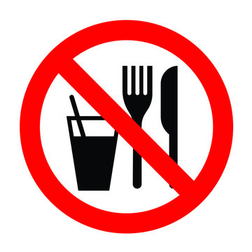 no food and drink allowed icon