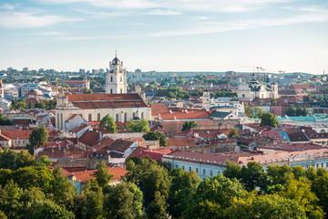 VILNIUS, LITHUANIA - September 2, 2017: Street view of downtown in Vilnius city, Lithuanian Fototapete
