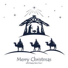 Christian Christmas on White Background
