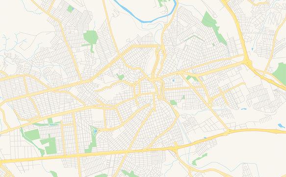 Printable street map of Americana, Brazil