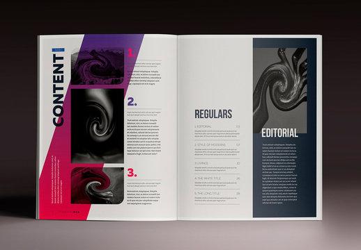 Gradient Indesign Magazine Template