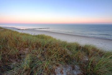 Wydmy na wybrzeżu Morza Bałtyckiego,Dźwirzyno ,Polska.