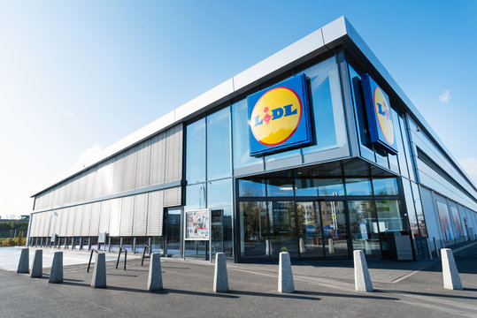 LIDL supermarket in Poland, German global discount