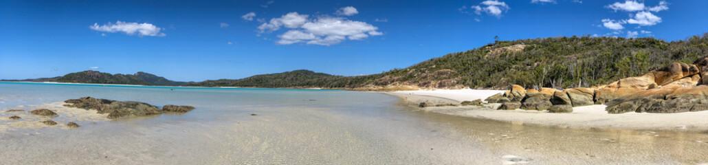 Fototapeta Panoramic view of Whitehaven Beach in Queensland, Australia obraz